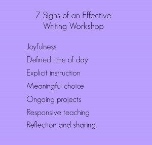 Seven Signs of an Effective Writing Workshop