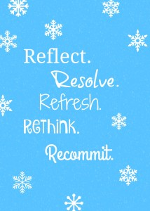 Reflect, Resolve, Recommit – 3 Reasons to LOVE January