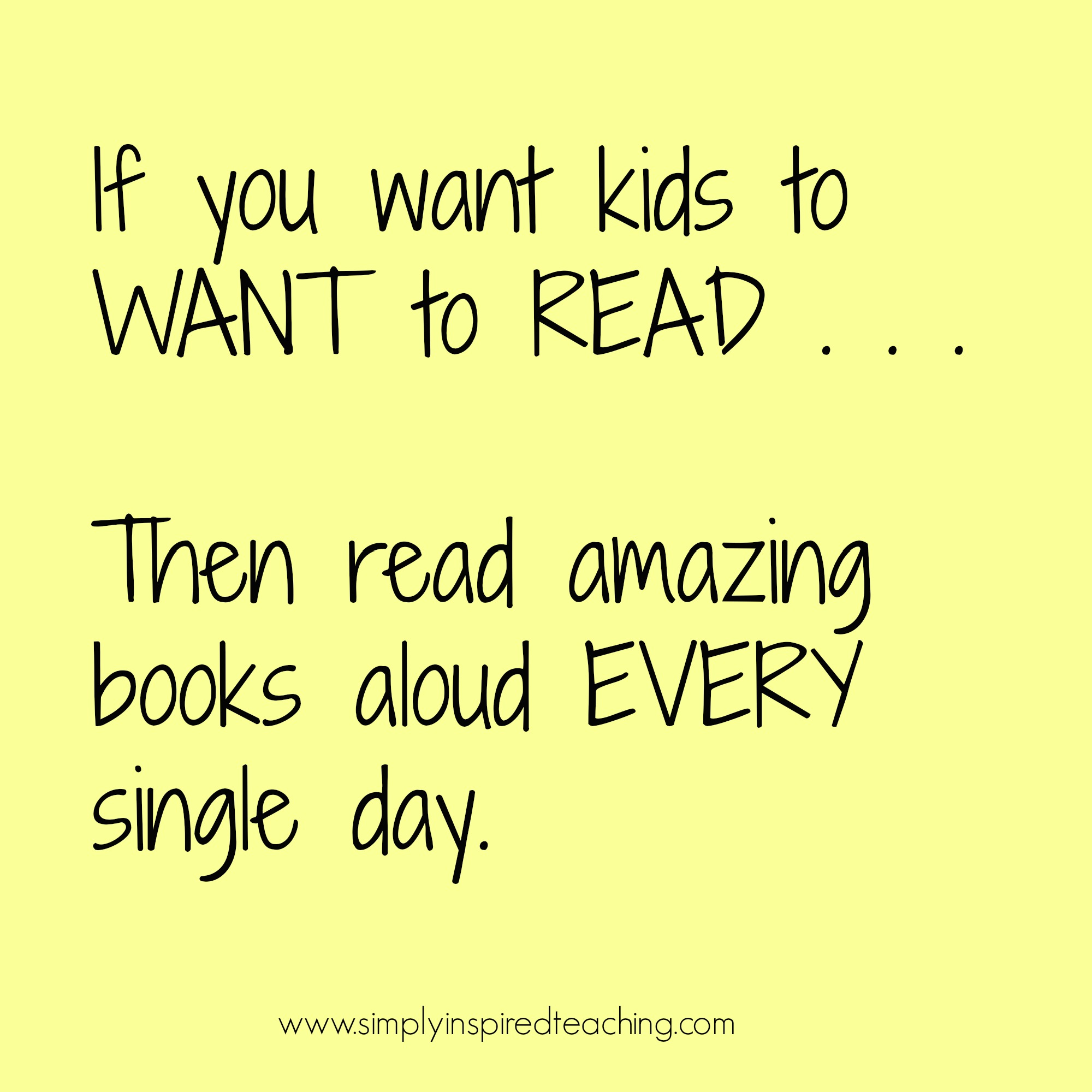 If You Want Kids To Want To Read . . . Then Read Aloud